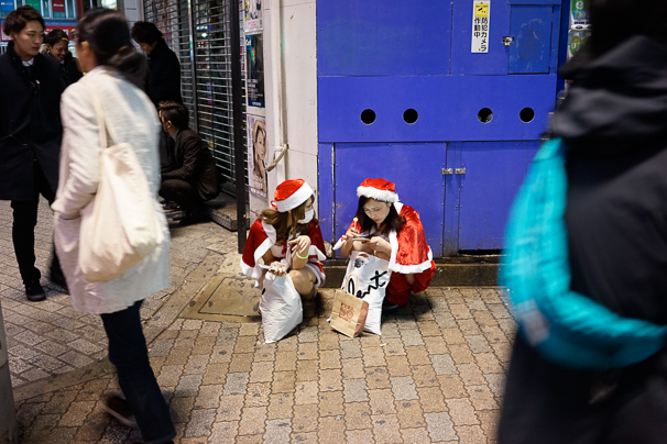 2015年渋谷のクリスマスの様子