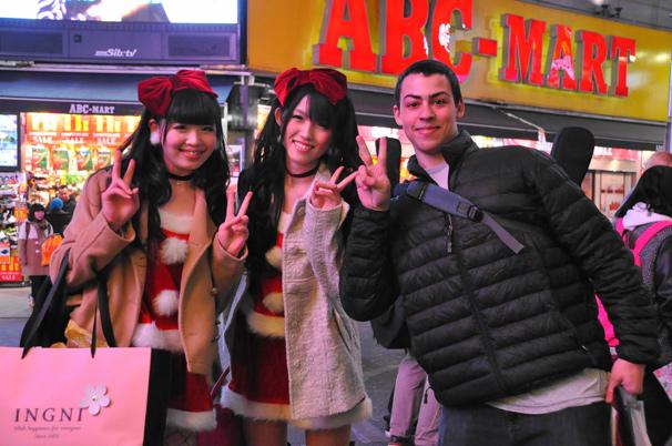 渋谷のサンタのコスプレ写真4