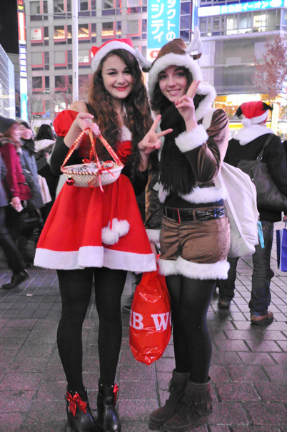 渋谷のサンタのコスプレ写真2
