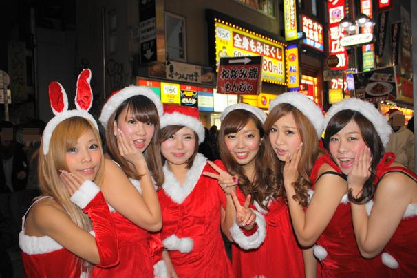 サンタのコスプレであふれる渋谷の街を激写! ギャル達のクリスマス