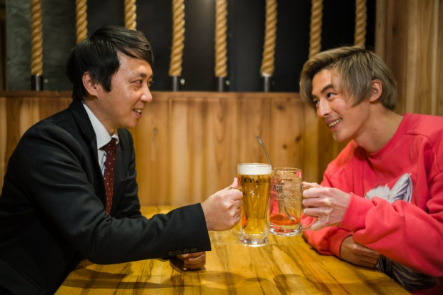 酒にも手伝ってもらって、北九州産を味わいながら腹を割って話しましょう!