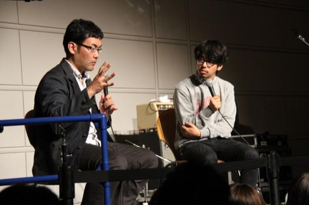 ASIAN KUNG-FU GENERATIONの後藤正文さんと、詩人の和合亮一さん