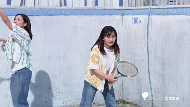 ポカリスエットCM「プールでテニス」篇