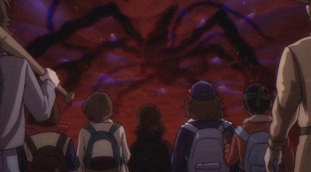 アニメ『ストレンジャー・シングス』/画像は「If Stranger Things was an 80s Anime」のスクリーンショット