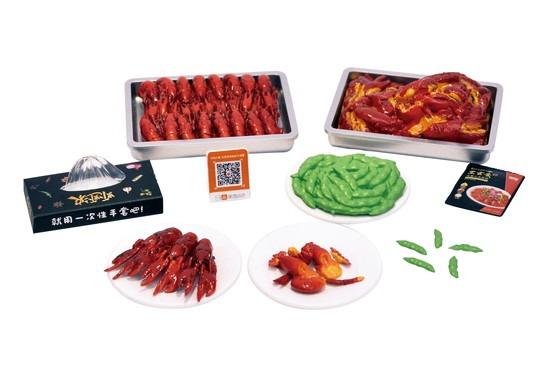 中国の夏の風物詩「ザリガニ料理」がフィギュアに フルコース揃えたい