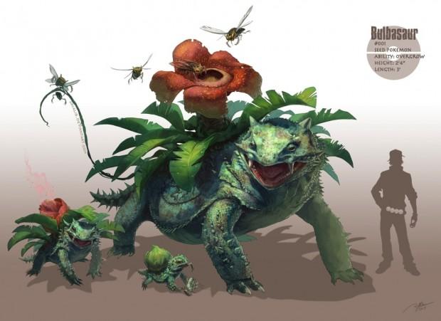 RJ Palmerさんの「Realistic Pokemon」アート:フシギダネ