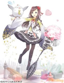 小張凜とモ助。キャラクター原案はおちゃうさん