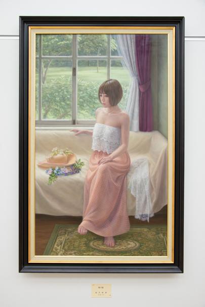 「日展」で展示中の福井欧夏さんによる「葵の庭」
