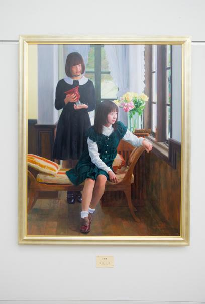 「日展」で展示中の本山二郎さんによる「二重奏」
