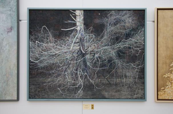 「日展」で展示中の佐藤俊介さんによる「marginal」