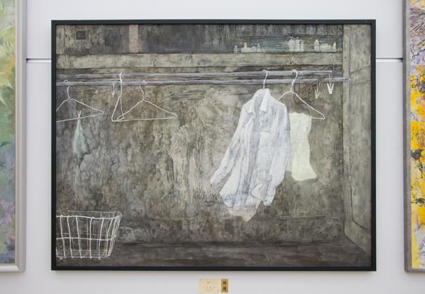 「日展」で展示中の三上友子さんによる「日々」