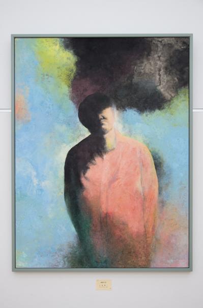 「日展」で展示中の土屋禮一さんによる「画家の空」