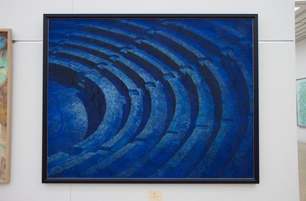 「日展」で展示中の村居正之さんによる「耀く」