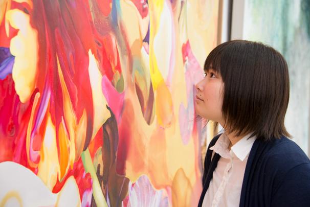 「日展」で展示中の岩田壮平さんによる「水なき空に」