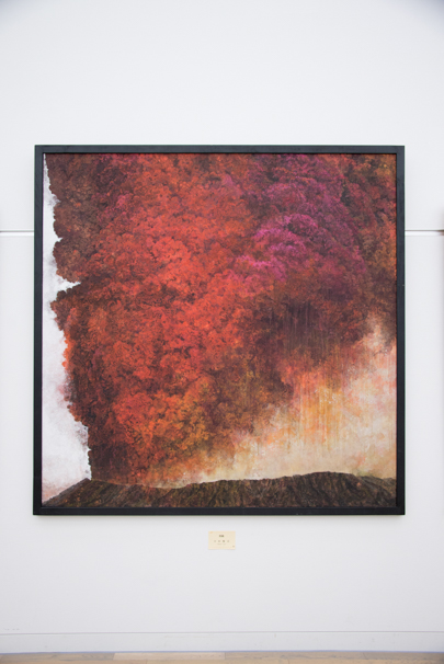 「日展」で展示中の中村賢次さんによる「煙籟」