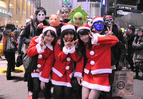 渋谷のサンタのコスプレ写真3