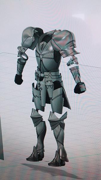 ギルガメッシュの鎧のモデリングデータ