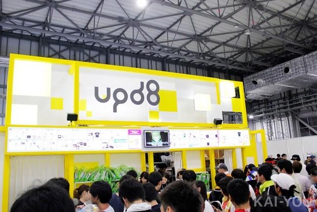 Activ8運営の「upd8 & collaboration!」ブース