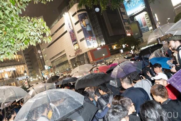 令和カウントダウン/渋谷・スクランブル交差点の様子