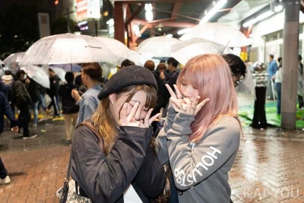 渋谷に集まった人々