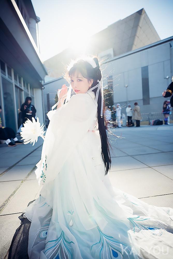 中国人コスプレイヤー「Amiro」のコスプレ写真 漢服に身を包んだ姿には、後光が差していた【コミケ97】