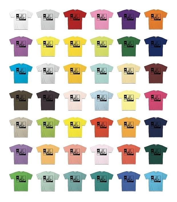 サブキャラクソTシャツのカラーバリエーション