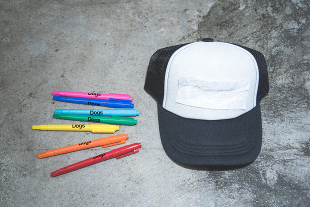 Dogs cap with Dogs markers