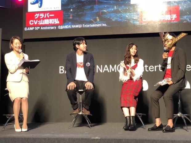 (左から)中島光司さん、足立梨花さん、伊能昭夫さん