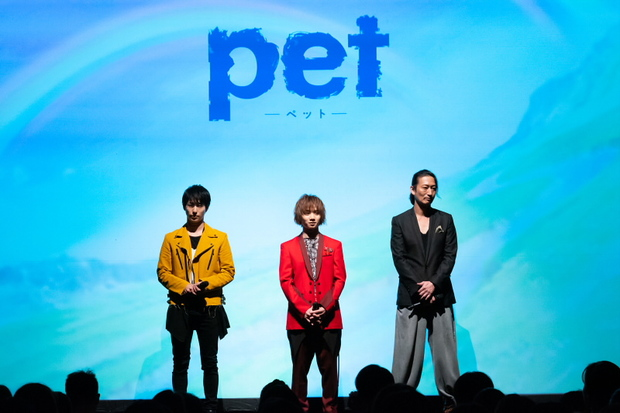 左から谷佳樹さん、植田圭輔さん、萩野崇さん