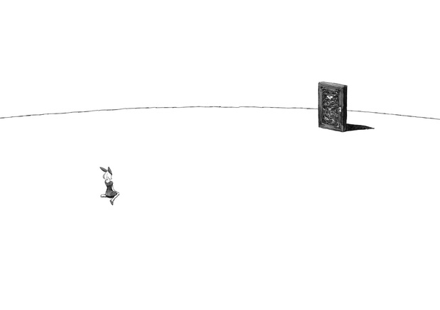 長編漫画「BIBLIOMANIA」連載 第1話「不死偽(ふしぎ)の館のアリス」12-13P