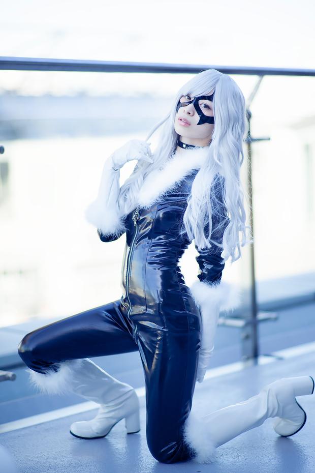 コミケC91コスプレ_小鞠こまち(『スパイダーマン』ブラックキャット)7