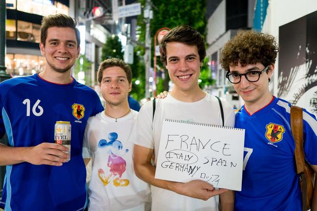 渋谷で聞いたワールドカップ優勝国:フランス