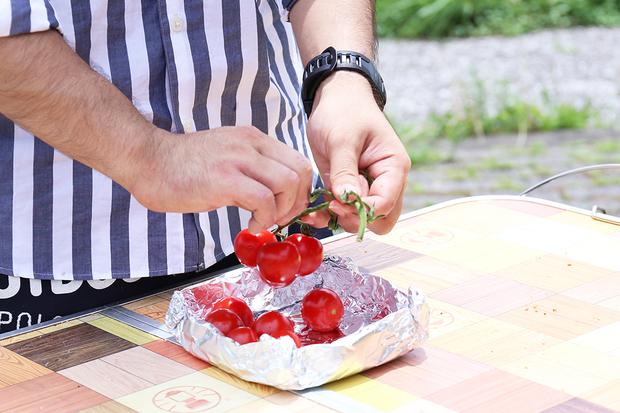 トマトの焼きカプレーゼ1