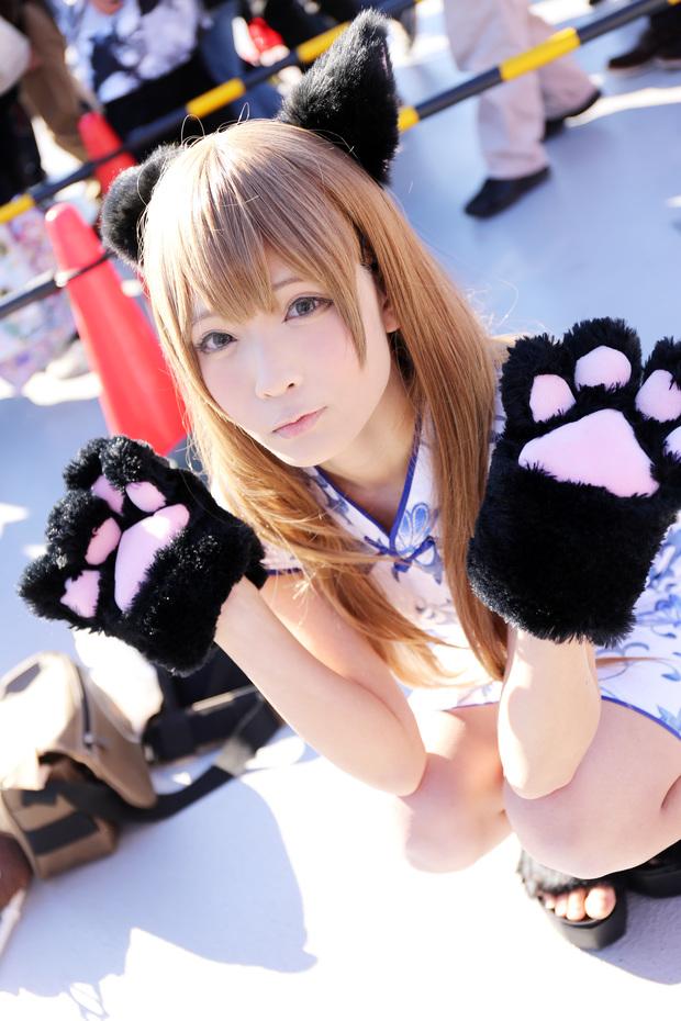 コミケC91コスプレ_コミケC91コスプレ_せんじ オリジナル(猫チャイナ)2