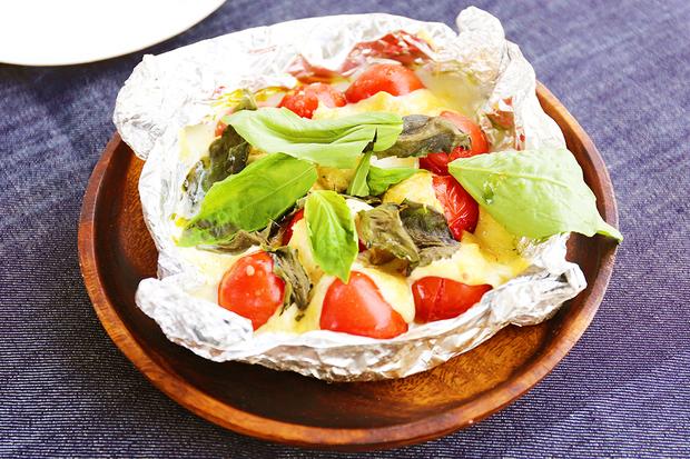 トマトの焼きカプレーゼ2