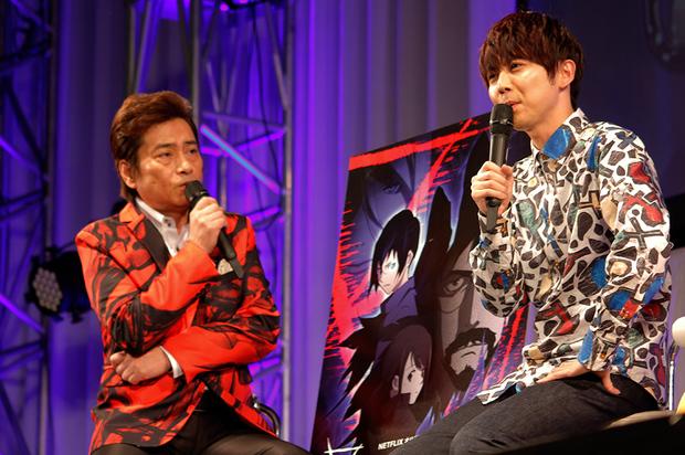 (左)平田広明さん(右)梶裕貴さん