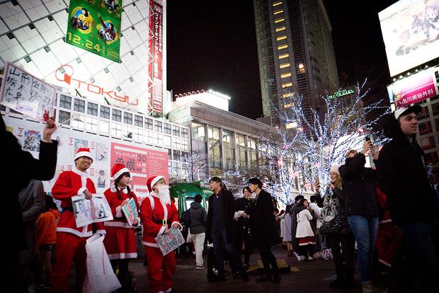 12月25日クリスマスの渋谷