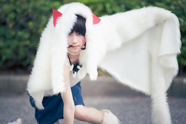 小春ユリさんの『もののけ姫』サン コスプレ1