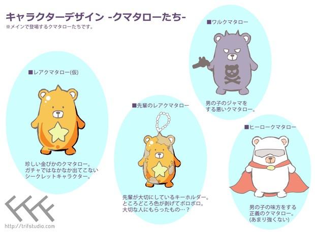 クマタローのキャラクターデザイン