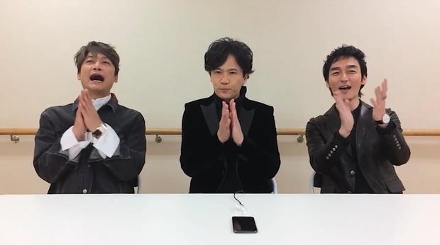 稲垣さん、草なぎさん、香取さんによるダウンロード動画