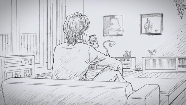 絵コンテの謎の男性