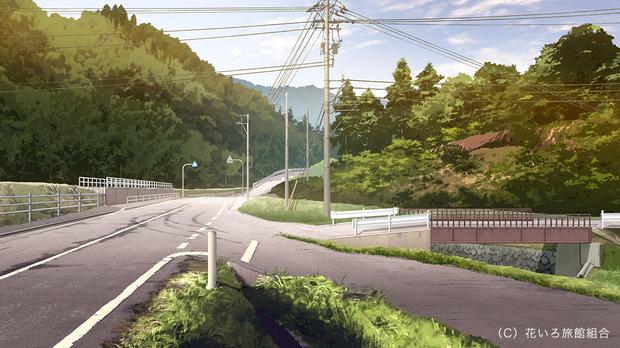 『花咲くいろは』喜翆荘周辺の道路