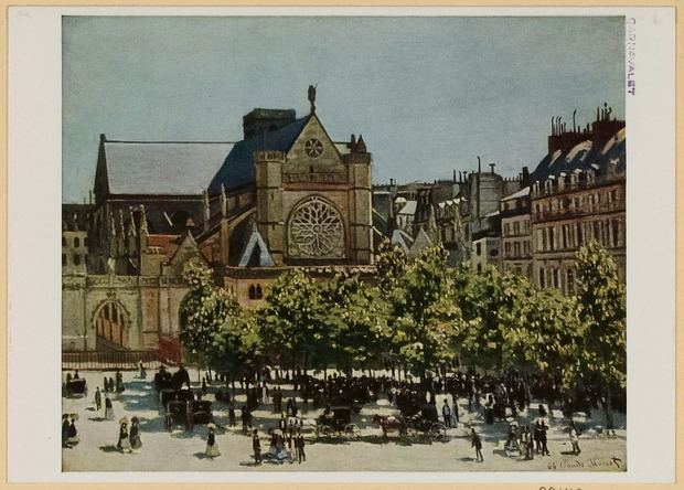 『Saint-Germain l'Auxerrois, par Claude Monet.』