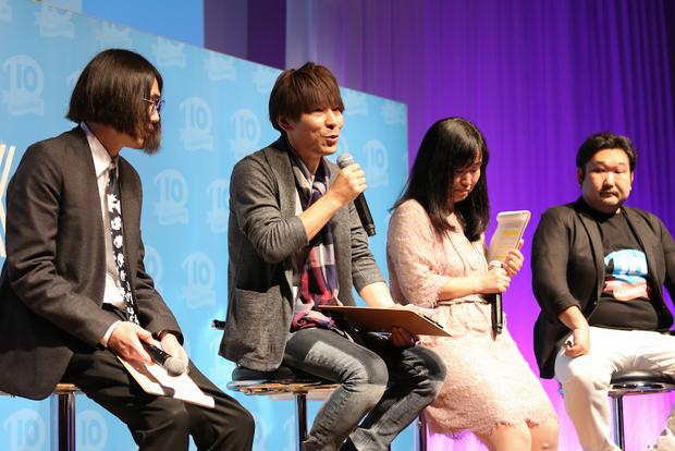 左から、鈴木海斗さん、瀬川昇さん、中里郁子さん、永田寛哲さん