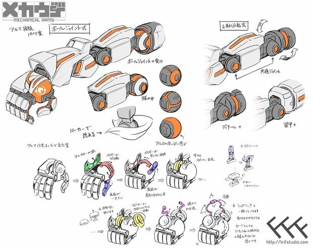 『メカウデ-mechanical arms-』デザインアイデア