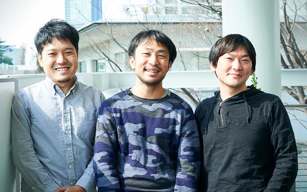 左より新井純さん、丸本翔一さん、中村洋基さん
