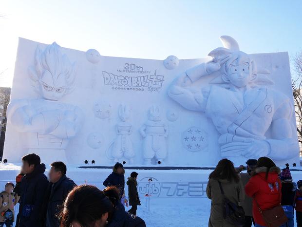 さっぽろ雪まつり_ドラゴンボール雪像