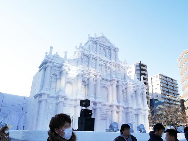 さっぽろ雪まつり_「聖ポール天主堂跡」大雪像