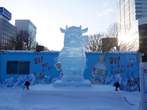 さっぽろ雪まつり_氷像_キーコ