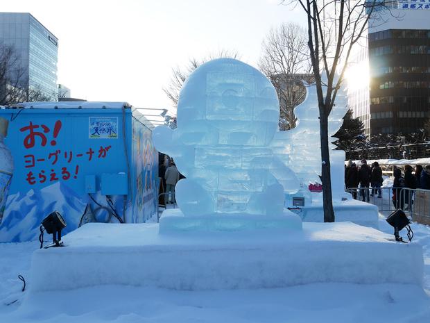 さっぽろ雪まつり_氷像_どこでもユキちゃん